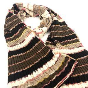 MISSONI zig zag knit shawl scarf made in Italy